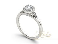 absolutely gold plated - absolutely valuable shinning swirling k white gold plain design traditional engagement ring sterling silver ring BER0404