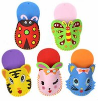 Wholesale Do It Yourself EVA Slipper Kids Children Kindergarten DIY Easy Crafts Toys Colors Assorted