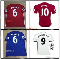 Wholesale 2016 Top Thailand Quality MancHester Jersey home away rd jerseys UnITED Ibrahimovic MEMPHIS ROONEY POGBA jersey
