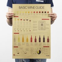 art wine tasting - Wine Tasting Guide Vintage Kraft Paper Movie Poster Home Decor Wall Decals Art Craft Retro Painting