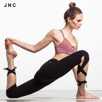 Wholesale Cute yoga pants sports Running Tights High Waist Leggings Bandage Wrap Pants Dance Leggings For Women Workout Fitness Leggings