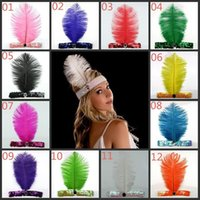 Wholesale Flapper Feather Headband Flapper Sequin Charleston Costume Headband Band Party mixed more colors