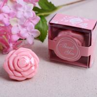 Wholesale 10pcs Soap Rose flower Wedding Favors Baby Shower Party Bath Soap Decoration colors pink purple white yellow