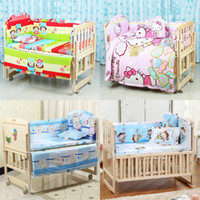 Wholesale 5PCS set x70cm Infant Baby Bedding Set For Girl Boys Bedding Set Kids Baby Bed Bumper Baby Crib Bumper Baby Cot Set CP02