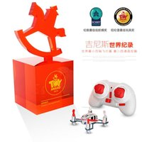 Wholesale DHL The Smallest helicopter Hubsan Q4 H111 micro UFO Mini quadcopter CH D Fly remote control toys Break the Guinness World Record