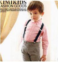 Wholesale 37 Color Children Adjustable solid Suspenders baby Elasti Braces Kid Suspenders CM