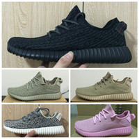 Wholesale Kanye West Boost Running Shoes Top Quality Pirate Black Turtle Dove Moonrock Oxford Tan Shoes with Original Box Receipt