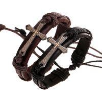bible scriptures - Christian scripture cross bracelets Genuine Leather Wristband Bible Urban Jewelry for men women punk jewelry