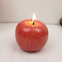 Wholesale 2016 New Fruit Shape Scented Candle Home Decoration Greet Gift Christmas Red Apple Shape etc Candles