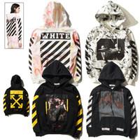 achat en gros de vêtements hip-hop-OFF WHITE C / O Hoodies Hommes Femmes Vêtements de marque Vêtements religieux manteaux Hip Hop Skateboard PALACE VLONE hommes Hooded Sweatshirts 2017