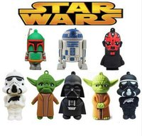 Wholesale Cool usb flash drive star wars pen drive GB cartoon pendrives GB Hot sale U disk GB U Sticks GB designs