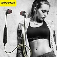 attraction magnet - AWEI A860BL Sport Wireless Bluetooth Earphone Magnet Attraction Design Stereo HiFi Headset Handsfree With Mic For IOS Android Smartphone
