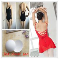 adult ballet leotard - New Stretch cotton Sleeveless Ballet Leotard Women Adult Girls Dance Ballet Leotard