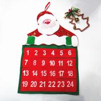 advent calendar for christmas - 1Pcs Santa Claus Father Christmas Advent Calendar Countdown Xmas Decor Fabric Pockets Christmas Decoration Supplies for HOME