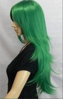 beautiful companies - Beautiful fashion newly listed companies have a new vertical green wigs