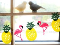Wholesale flamingo Pineapple pineapple garland Birthday cartoon pennants Paper Flag Party Decoration Banner Bunting for Children kids pink girl party