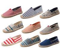 Wholesale Leisure canvas Lovers shoes NEW Cotton shoes Weave Linen shoes Ventilation Light Wear resisting Single shoes sales