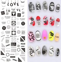 water nail decals - see details remark design newest DS213 series water nail art stickers water nail seal stamping popular newest nail decal