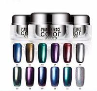 Wholesale BRAND NEW G JAR Metallic MIRROR Effect Nail POWDER COLORS Chrome Pigment Nail Glitters POWDER