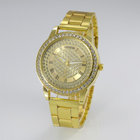 battery trade - Foreign trade adicolo watch Geneva full diamond diamond gold watch watch fashion Steel Watch Watch Geneva quartz watch Free Shippi