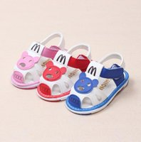 baby kids magazine - 2016 New children leather sandals summer kids boy cartoon breathable baby and gril shoes toddler magazine sandal Pairs