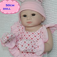 Cheap New NPK Full Silicone Reborn Baby Dolls About 50cm Like A Newborn Infant Lovely Kid Playmate Real Doll With High Quality Clothes