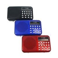 Wholesale 2016 Brand NEW mm Internal Magnetic T508 LED Stereo FM Radio Speaker USB TF Card MP3 Music Player