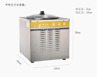 Wholesale HOT Sale Fry Ice Cream Roll Machine with temperature control big round pan Thailand Fried Ice Cream Machine Express