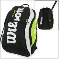 Acheter Sacs de jour noir-Raquette de tennis sac à dos noir sac à dos bleu rouge professionnel 2 picece pack jour badminton raquette sac de chauve-souris de haute qualité