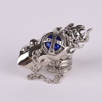 animations jewerly - High Quality Vintage Fashion Jewerly Punk Style Stainless Steel Men Ring Stage Performance Blue Gem Animation Cosplay Women Rings
