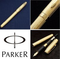 Wholesale Parker Fountain pen with original box fashion gift fountain pen Executive good quality pen golden hight quality pen