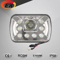 Wholesale High quality x6 inch w high low beam angle eyes led headlight led driving light for Jeep trucks