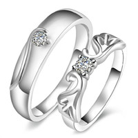 Wholesale 925 sterling silver items jewelry wedding rings adjustable vintage flower carving pair new arrival lover gift