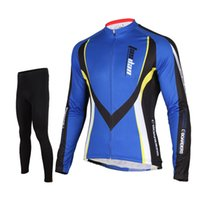 Wholesale Long Sleeve Professional Clothing - Tasdan Professional Racing Cycling Jersey Suits Road Bike Long Sleeve Jersey and Top Pants Cycling Clothes Online