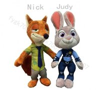 Wholesale cm Hot Movie Zootopia Plush Dolls Nick Wilde Fox Judy Hopps Rabbit Stuffed Cartoon Cute Toys Gift For Kids