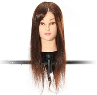 Wholesale Brown Percent Real Hair Cutting Training Mannequin Head Clamp