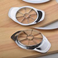 apple fruit salads - Hot Sale Stylish Design Salad Easy Fruit Kitchen Corer Slicer Cutter New Stainless Steel Knife Helper For Apple