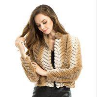 Wholesale winter warm short coat female fur coat stitching wool coat jacket