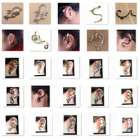 Clip-on & Screw Back animal ear cuff - Low sales Ear Cuff bird snake Dragon Different Styles Earring Golden or Silver or Black LKYLEC001
