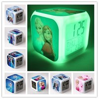 Wholesale Frozen Alarm Clock Touch Colorful Changing Diamond Sword Alarm Clock LED Colors Change Digital Alarm Clock Night Light DHL