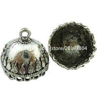 antique domes - 19030 Vintage Antique Smooth Dome Hollow Filigree Tassel Pendant Retro