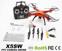 Wholesale SYMA X5SW RC Drone FPV Helicopter Quadcopter with HD wifi aerial Camera G Real Time Gyro RC Helicopter Toy