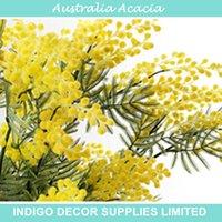 artificial flowers australia - Australia Acacia Yellow Mimosa Pudica Spray Fake Decorative Flower Artificial Flower Wedding Flower Party Event