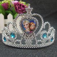 Wholesale 2016 Hottest Baby Children Headband Clip Princess Crown Fashion Elsa Anna Crown Costume Movie Girl Hair Accessories SP14