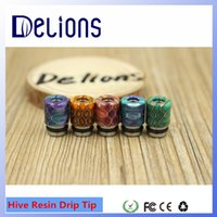 best plastic epoxy - Fashion Design best selling Original colorful Epoxy resin DRIP TIPs Hive resin drip tips Cap in stock