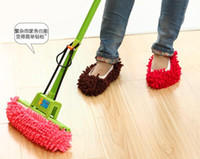 Wholesale Easy Lazy Perfect Cleaning Wipers Chenille Floor Wipes Plush Mop Shoe Cover Non Slip Water