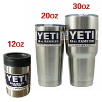 Wholesale Yeti oz oz Cups Cooler YETI Rambler Tumbler Travel Vehicle Beer Mug Double Wall Bilayer Vacuum Insulated OTH1