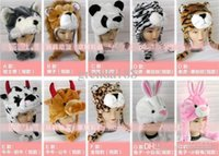 Wholesale Cartoon animal hats winter short Plush caps protect ear hat