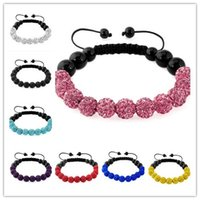 balls - 2016 Fashion Jewelry New Mix Colors Sales Promotion mm Crystal AB Clay Disco Balls Bracelets