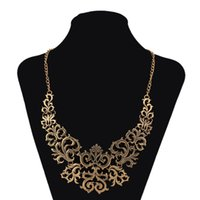 Wholesale 2016 Statement Choker Necklaces Fashion Hollow out Design Collar Nickel Free Jewelry Gold and black red Colors CN101036